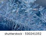 abstract ice pattern on winter... | Shutterstock . vector #530241352