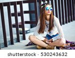 funny stylish sexy smiling... | Shutterstock . vector #530243632