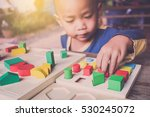 boy try to do question with... | Shutterstock . vector #530245072