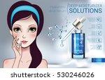hyaluronic acid moisturizing...   Shutterstock .eps vector #530246026