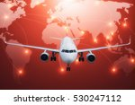 cargo plane freight  with world ... | Shutterstock . vector #530247112