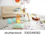 after party interior chaos | Shutterstock . vector #530248582