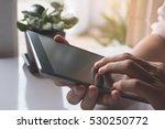close up of man hands relaxed... | Shutterstock . vector #530250772