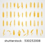cereals icon set with rice ... | Shutterstock .eps vector #530252008