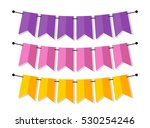 bright banner as bunting flags... | Shutterstock . vector #530254246