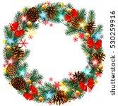 new year's pattern. wreath.... | Shutterstock .eps vector #530259916