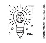creative mind vector icon | Shutterstock .eps vector #530261206
