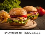 home made hamburger with beef ... | Shutterstock . vector #530262118