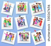 family photography set. happy... | Shutterstock .eps vector #530267656