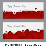 valentine's day heart card love ... | Shutterstock .eps vector #530268832