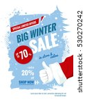 big winter sale vertical banner.... | Shutterstock .eps vector #530270242