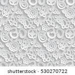 vector paper 3d om seamless... | Shutterstock .eps vector #530270722