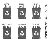 different recycle waste bins... | Shutterstock .eps vector #530272276