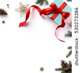 christmas holiday composition ... | Shutterstock . vector #530273386