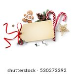 christmas holiday decoration ... | Shutterstock . vector #530273392