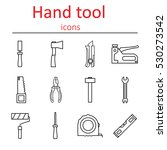 set of construction hand tools. ... | Shutterstock .eps vector #530273542