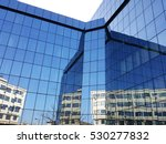 Office Building Blue Glass Wall
