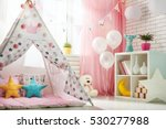 spacious children room with...