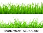 2 backgrounds of green grass ... | Shutterstock .eps vector #530278582