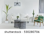 white living room with... | Shutterstock . vector #530280706