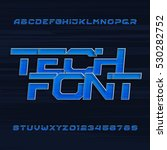 futuristic techno alphabet... | Shutterstock .eps vector #530282752