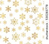 golden snowflake simple... | Shutterstock .eps vector #530283778