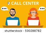 male and female call center... | Shutterstock .eps vector #530288782