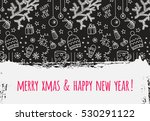 modern vector new year card or... | Shutterstock .eps vector #530291122