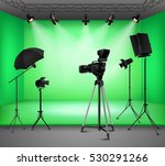 Realistic Green Screen Studio...