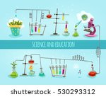 science and education college... | Shutterstock . vector #530293312