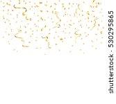 gold confetti celebration... | Shutterstock . vector #530295865