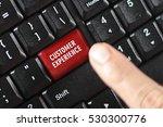 customer experience words on... | Shutterstock . vector #530300776