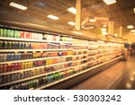 blurred beverage display on... | Shutterstock . vector #530303242