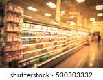blurred beverage display on... | Shutterstock . vector #530303332
