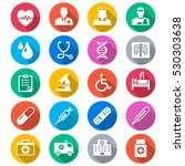 health care flat color icons | Shutterstock .eps vector #530303638