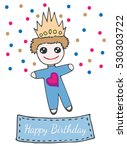 happy birthday greeting card... | Shutterstock .eps vector #530303722