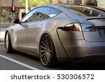 electric car getting charged | Shutterstock . vector #530306572