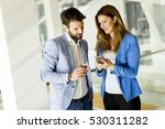 businesswoman with male... | Shutterstock . vector #530311282