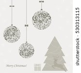 background with a christmas... | Shutterstock .eps vector #530313115