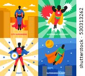 superhero defender 2x2 design... | Shutterstock .eps vector #530313262
