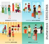 shopping concept icons set with ... | Shutterstock .eps vector #530313466