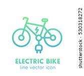 electric bike icon in linear... | Shutterstock .eps vector #530318272
