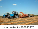 onion harvesting with modern... | Shutterstock . vector #530319178