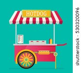 hot dog  street cart. vector. | Shutterstock .eps vector #530320096