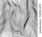 black and white abstract waves... | Shutterstock .eps vector #530321395