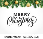Background With Fir Tree...