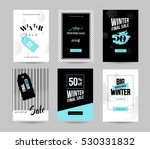 winter sale cards. set of... | Shutterstock .eps vector #530331832