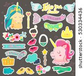 magic collection of stickers... | Shutterstock .eps vector #530334436