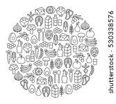 round design element with... | Shutterstock .eps vector #530338576