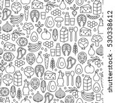 seamless pattern with healthy... | Shutterstock .eps vector #530338612